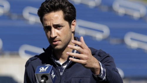 Ryan Braun Speaking at a Press Conference after his Appeal was upheld.