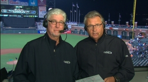 Mike Krukow, on the left, and Duane Kuiper
