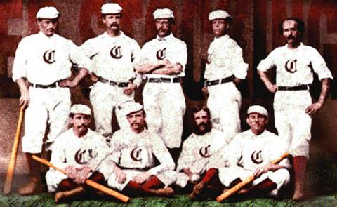 Cincinnati Red Stockings.  1st Professional Baseball Team