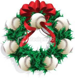 baseball christmas wreath