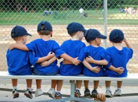 kids playing baseball image
